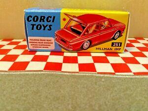 CORGI 251 Hillman Imp  EMPTY  Repro Box ONLY    NO  CAR