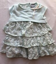 Tahari Baby Girl Size 3-6 Months Lace Ruffle Dress Tunic