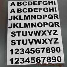 52 Buchstaben und 20 Klebezahlen , Aufkleber    Arial Black  Neu