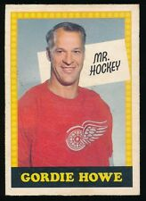 1969-70 O-Pee-Chee Hockey #193 GORDIE HOWE -Mr Hockey (Red Wings) WITH # on BACK
