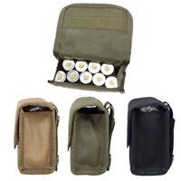 Tactical Molle 10 Round 12 Gauge Belt Shotgun Shell Ammo Pouch Waist Bag Holder