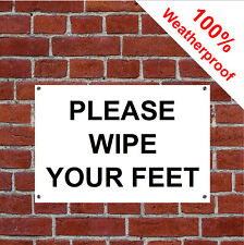 Please wipe your feet sign 5165BKW Farm, countryside, Warehouse and Workplace