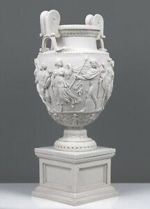 "Roman Marble Sculpture Townley Vase on Large Pedestal - Garden Urn 52 cm / 20.5"""
