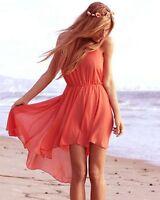 Topshop by Love Orange Spaghetti Strappy Dress UK 8 - 10 EURO 36 - 38 US 4 - 6