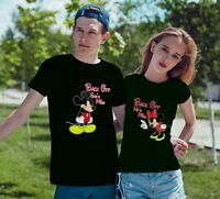 Mickey and Minnie Back OFF He's Mine - She's Mine Funny T-Shirts For Couples!