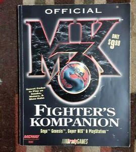 Mortal Kombat 3 MK3 Bradygames Fighters Kompanion Strategy Guide Genesis/SNES/PS