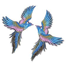 2 Lot Phoenix Birds Patch Bure Wings Tattoo Embroidered Iron on Applique DIY