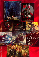 THOR The Dark World 3D + 2D Blu-ray Zavvi Lenticular Steelbook + 8 Art Cards