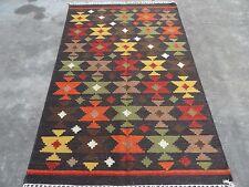 Large Afghan Kilim Area Rug Handmade 5'x8' Reversible Wool Carpet Kelim