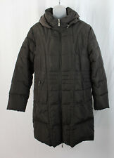 Moncler Women's Brown Long Fit Hooded Full Zip Quilted Puffer Jacket Coat Size 4