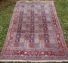 Superbe grand tapis persan moud jardin de paradis