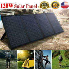 120W Solar Panel Folding Power Bank Outdoor Hiking Camping USB Battery Charger .