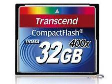 Transcend 32 GB CompactFlash CF card 32GB Premium x 400 originale scatola TS32GCF400