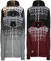 Men's Aztec Print Fleece Hoodies Sweats Hooded Casual Zipper Jumpers Tops S-XXL