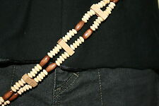 Ladies belt wooden beaded fashion belt one size wood beads brown fashion belts