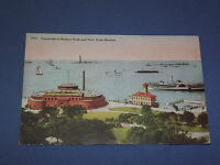 VINTAGE AQUARIUM IN BATTERY PARK NY HARBOR   NEW YORK   POSTCARD