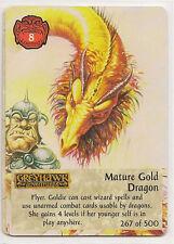 Spellfire 4th Edition Card M/NM 267/500 Mature Gold Dragon