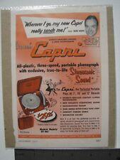 Sonic Capri Stereosonic Sound Bob Hope Vintage Advertisement December 1953 color