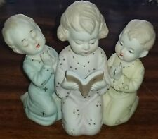 Lefton China Hand Painted Japan Bedtime Story Praying Bible Children Figurine