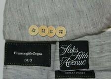 "ERMENEGILDO ZEGNA 52 / 42L DUO ""Street Jacket"" 1/2 Lined Blazer Silk Wool Linen"