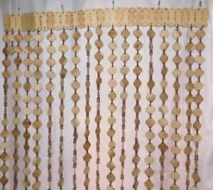 Wooden Curtain beaded screen window door room divider handmade New home decor