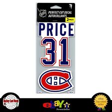 (HCW) Montreal Canadiens Carey Price Perfect Cut Decal/Sticker Set of 2 NHL 4x4