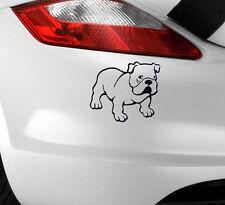 Nouveau bulldog autocollant voiture drôle art fantaisie/fenêtre/pare-chocs idéal pour les propriétaires de chiens