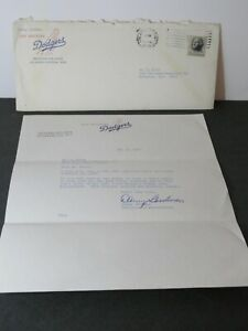 Vintage 1966 Los Angeles Dodgers Yearbook Request Letter