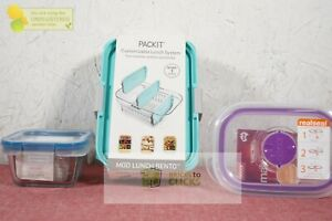 PackIt MOD Bento Container, Decor Match Up Realseal Food Storage & Snapware LtX3