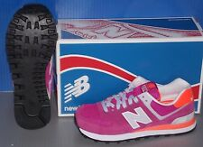 WOMENS NEW BALANCE WL 574 CPI in colors LIGHT PURPLE / ORANGE / GREY  SIZE 8.5