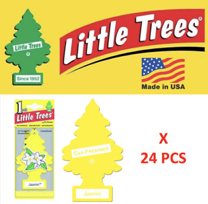 Jasmine air Freshener air Little Trees 10433 Air Tree MADE IN USA Pack of 24