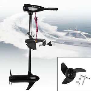 12V 1.2HP Electric Outboard Trolling Brush Engine Motor Thruster 80LBS 1900r/min