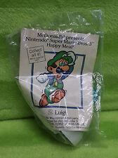Vintage 1989 1990 Nintendo Super Mario Bros 3 McDonalds #2 Luigi - NEW