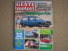 GENTE MOTORI #7 1982 OPEL CORSA VOLKSWAGEN POLO MINI AUSTIN TOYOTA CELICA