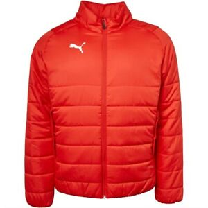 """Puma Mens Liga Padded Warmcell Jacket Sport Coat Red Size Large 42-44"""" RRP £69"""