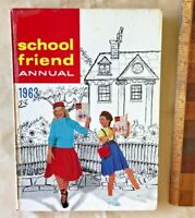 VINTAGE 1963 GIRLS' SCHOOL FRIEND COMIC STORY BOOK ANNUAL HB UK FLEETWAY EXC!!!
