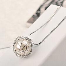 Fashion Round Jewelry Chain Pendant Pearl Choker Chunky Statement Bib Necklace