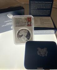 2020 End of World War II 75th Anniversary American Silver Eagle V75 *NGC PF70*