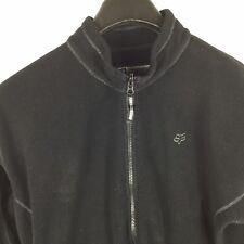 Fox Racing Men's Large Black Snow Fleece Full Zip Jacket
