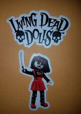New St of 2 Living Dead Dolls Vinyl Stickers Resurrection Cuddles and LDD Logo