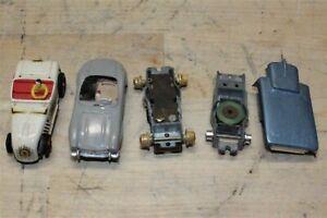 Vintage Aurora Vibrator Slot Cars And Parts Mercedes Hot Rod Roadster Untested