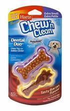 Hartz Chew'n Clean Dental Duo Dog Treat & Chew XS