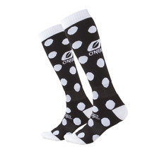 """O'neal ONEAL pro motocross MX  socks """"CANDY BLACK & WHITE """" Adult knee high"""