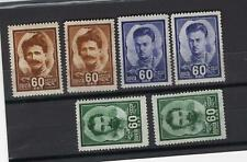 RUSSIA YR 1948,SC 1209-11,MI 1198-1200,MLH,CIVIL WAR HEROES,DARK SHADES VARIETY