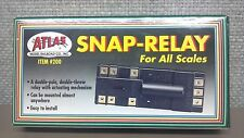 ATLAS Snap Relay #200 - Electric Double Pole Double Throw - Model Trains - New