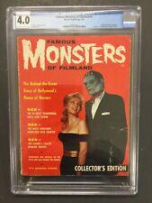 FAMOUS MONSTERS 1, CGC 4.0, 1959 WARREN PUBLISHING, 1ST WARREN MONSTER MAGAZINE