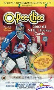 2002/03 Topps OPC O-PEE-CHEE Hockey HUGE Factory Sealed Blaster Box-JUMBO Card!