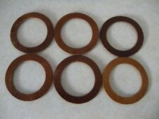 Model A Ford Leather Radiator Cap and Gas Cap Gaskets, 1930, 1931, Quantity 6