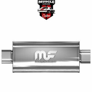 """14153 - 4"""" Inlet/Outlet 8""""x5""""x14"""" Body - Stainless Steel Magnaflow Muffler"""