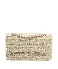 Chanel Medium Classic Flap Multi-Color Tweed Tweed Shoulder Bag